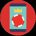 Online Casino auf einem mobilen Gerät