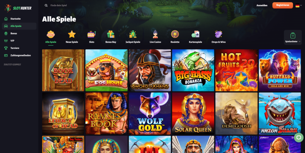 Große Auswahl an Spielen