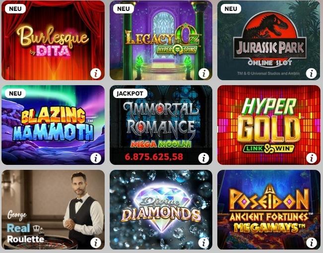 Betway Casino Übersicht Slots